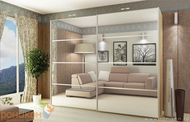 шкафы-купе дизайн фасадов фото в комнату