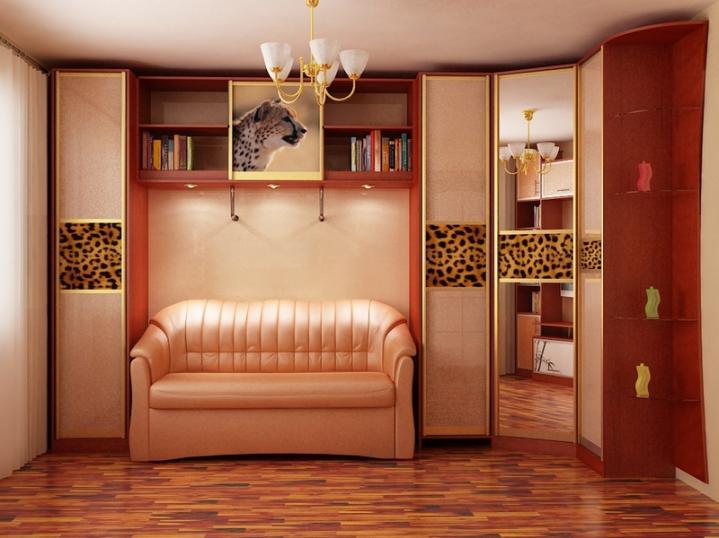 Мир-диванов! - дизайн гостиной с угловым шкафом.