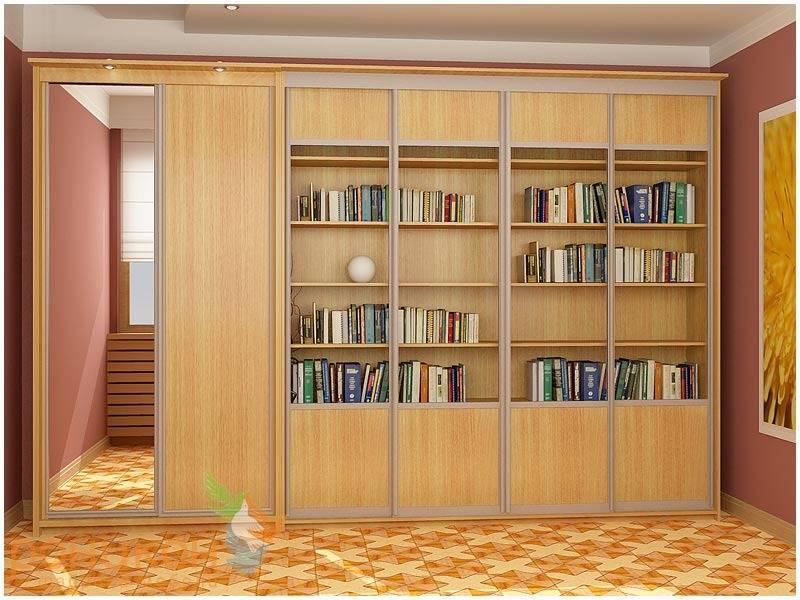 Библиотека с шкафом для одежды.
